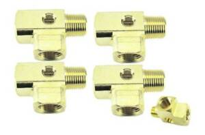 1 2 Npt Brass Street Tee With 1 8 Npt Drilled Tapped Gauge Hole 4 Pack