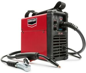Century Welder With Gun 90 Amp 120v Flux Core Wire Feed Inverter Power Source