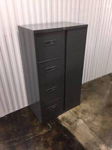 Filing Cabinet Storage Cabinet 4 Drawer With Wardrobe Made By Steelcase