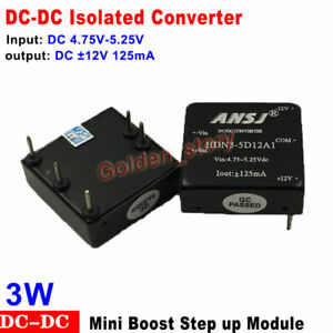 Dc dc Boost Step Up Isolated Volt Converter Dc 5v To 12v 125ma Mini Regulator