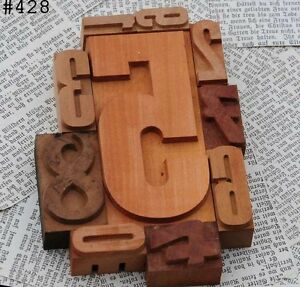 0 9 Mixed Unused Numbers Letterpress Wood Printing Blocks Type Number Letter 12