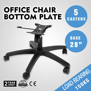 28 Office Chair Bottom Plate Cylinder Base 5 Casters Style Seat Kit Heavy