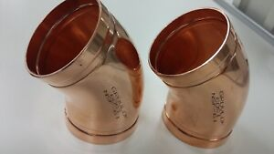 Gruvlok 4 Copper 45 Degree Elbow Lot Of 2 Free 2 3 Day Priority Mail