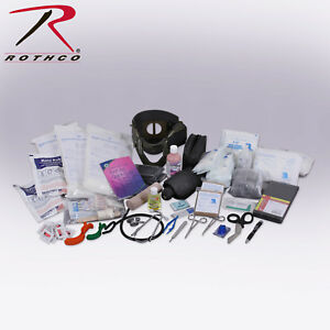 Rothco Military Trauma Kit Contents Emt Ems Medical Equipment First Aid Kit