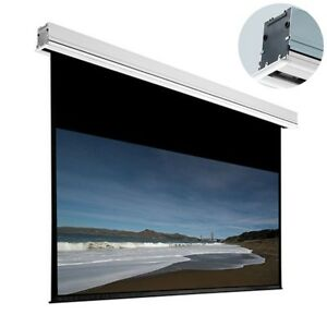 106 Motorized Hd Projector Screen 16 9 Home Theater Cinema Projection W Remote