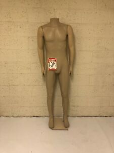 Male Mannequin Headless Plastic Material Slightly Scratched Hole In Back 61