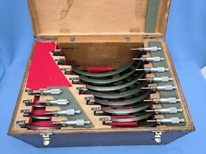 Mitutoyo 0 12 Micrometer Set With Standards Resolution 0001