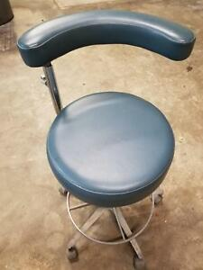 Dental Dentist Medical Doctor Adjustable Stool Exam Chair Dental Ez Slate Blue