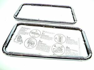 2 Antique Classic Car Chrome License Plate Frame Cadillac Packard Lincoln Buick