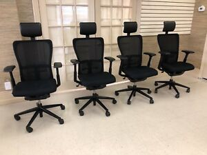 Haworth Zody Task Office Chair Fully Loaded Adjustable Black With Headrest
