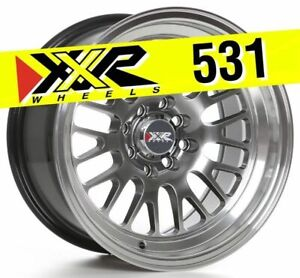 Xxr 531 15x8 4x100 4x114 3 0 Chromium Black Wheels Set Of 4
