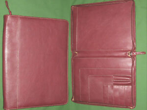 Monarch Note Pad Red Faux Leather Franklin Covey Planner 8 5x11 Binder 6062