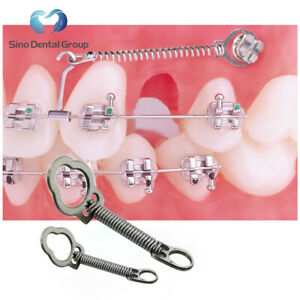 10 X Dental Orthodontic Nickel Titanium Closed Coil Springs With Eyelets 6mm