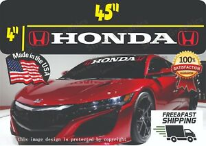 Honda Logo Windshield Banner Decal Sticker Si Civic Accord Del Sol Ivtec Jdm