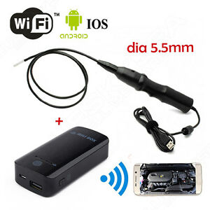 6led Usb Waterproof Endoscope Borescope Snake Inspection Camera Wifi Box Fr Ios