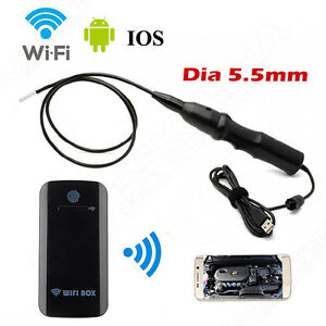 Wifi Box 5 5mm 6leds Endoscope Snake Borescope Usb Inspection Tube Camera 3 Kits