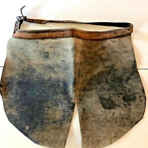 Leather Shop Lap Apron Vtg Welding Woodworking Workwear Carvers Distressed