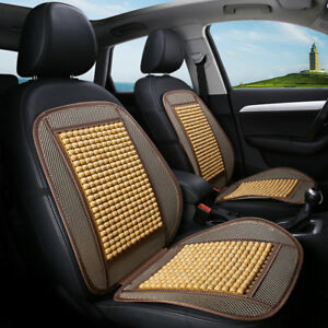 Car Massage Seat Cover Natural Wood Beads Mesh Mat For Auto Home Chair Cushion