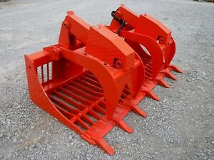 Kubota Skid Steer Attachment 72 Rock Bucket Grapple With Teeth Ship 199