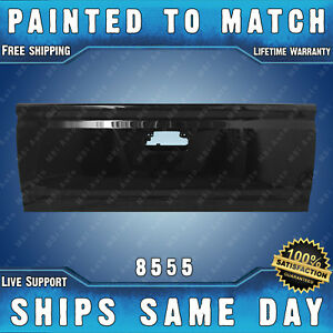 New Painted 8555 Black Steel Tailgate For 2014 2019 Chevy Silverado Gmc Sierra