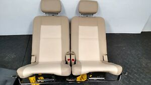 2006 Ford Explorer Set Of Rear 3rd Row Tan Leather Back Seat Trim Code Zc