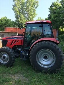 2015 Mahindra Mforce 105s Cab Tractor With Normand Snow Blower Excellent Shape