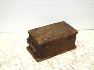 Antique National Hit Or Miss Engine Magneto Oak Boxed Buzz Box
