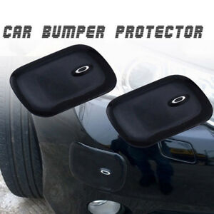 Black Pads Front Rear Bumper Rubber Pad Protector Corner Cover Guard Protection