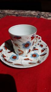 Royal Vienna Meissen Style Beehive Mark Demitasse Set Prior To 1864 Austria