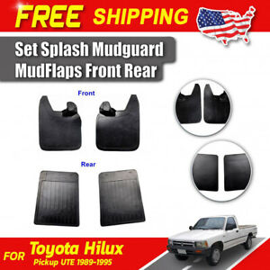 Set Splash Mudguard Mud Flaps Front Rear Fits Toyota Hilux Pickup Truck 1989 95