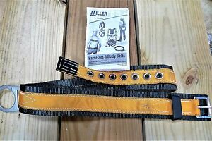 Miller By Honeywell T3310 saf Tongue Buckle Body Belt With Single D ring