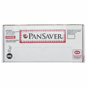 Pansaver Monolyn Full Size Clear Plastic Steam Table Pan Liner 2 1 2 6 d