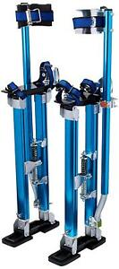 Professional 24 40 Drywall Stilts W Adjustable Heel Plates Foot Straps Blue