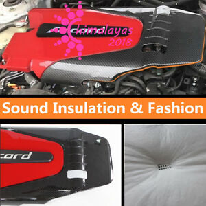 Carbon Fiber Style For Honda 10th Accord 2018 1 5t Auto Engine Cover Bonnet Hood