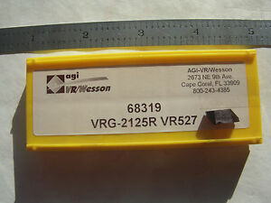 New 10pcs Vr wesson Vrg 2125r Top Notch Carbide Grooving Inserts Grade Vr527