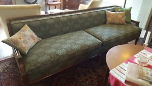 Vintage Mid Century Sofa Couch Turquoise And Green