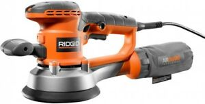 RIDGID Orbital Sander 4 Amp Dual Random Corded Lock-On Button Variable Speed