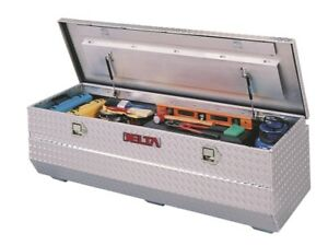 Delta Tool Boxes Bright Silver Chest Toolbox Aluminum For Full Size Trucks 8962