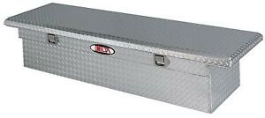 Delta Tool Boxes Silver Low Profile Single Lid Aluminum Crossover Full Size Tru