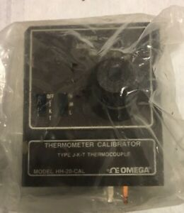 Omega Hh 20 cal Thermometer Calibrator Type J k t Thermocouple