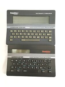 2 franklin Language Word Master Dictionary Thesaurus Spellcheck Lm 2000 Wm 1000