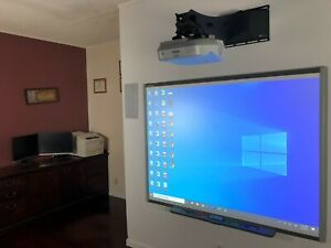Interactive Smart Board Sb660 And Epson Short Throw Projector Powerlite 470w