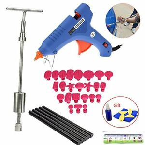 Paintless Dent Repair Puller Kit T bar Tool With 24pcs Dent Removal Pulling Tabs