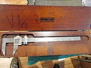 Vtg Starrett 12 Vernier Caliper No 122 In Starrett Case Reads 001 Clbrt 9 13