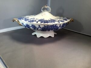 Blue A White Vegetable Tureen