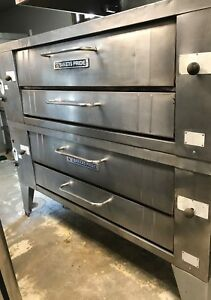 6 Pies Pizza Oven Bakers Pride Gas Double Deck Model Y600 great Condition Tested