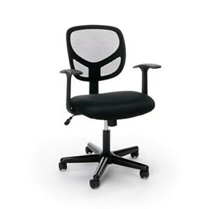 Drafting Chair Mesh Mid Back Adjustable Pu Leather Swivel Task Chair Heavy Duty