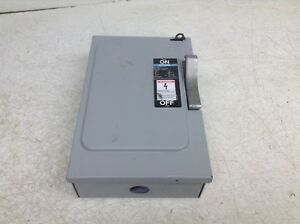 Siemens Ite F 351 Ser A 3 Pole 600 V 30 Amp Fusible Enclosed Switch F351 ok