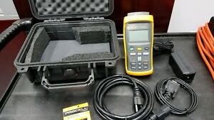 Fluke 1524 156 Ref Thermometer Readout dual Channel Hart Scientific