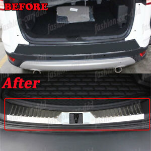 Inner Rear Bumper Protector Sill Plate Steel Fit For Ford Escape Kuga 2013 2016